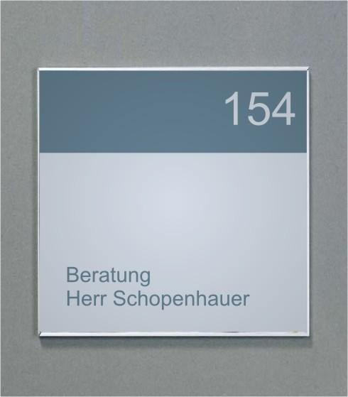 Wandschild | System Karlsruhe | 15 cm x 15 cm
