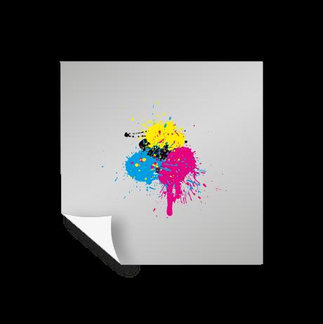 Aufkleber Polymer 2D - weiß und transparent