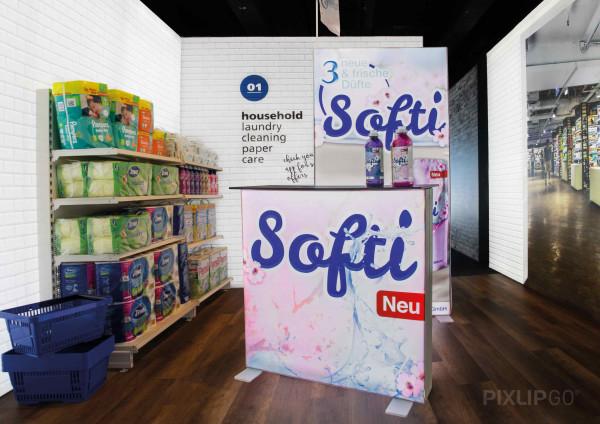 PIXLIP GO | Counter 100 cm x 100 cm indoor | einseitig