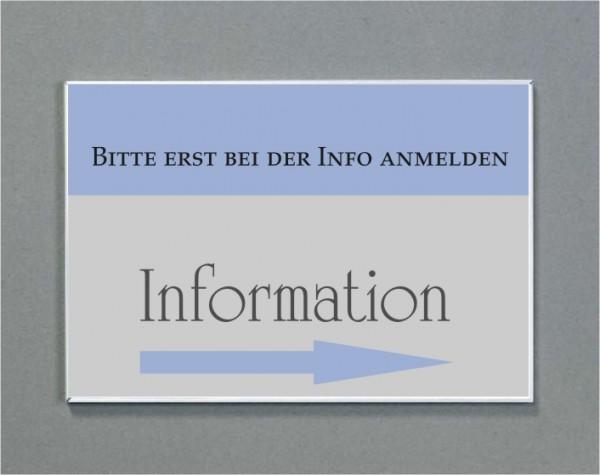 Wandschild | System Karlsruhe | DIN A5 quer